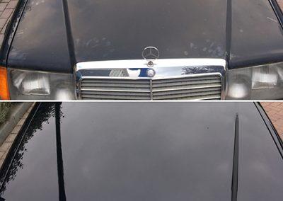 Mercedes motorkap voorbeeld - Klijnsmit Carcleaning