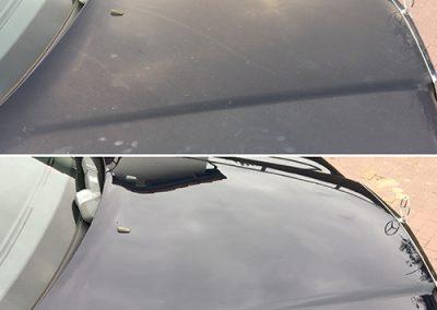 Mercedes motorkap zijkant voorbeeld - Klijnsmit Carcleaning